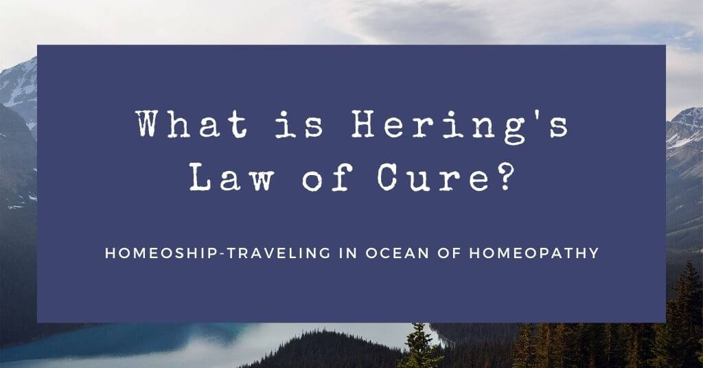 What is Hering's Law of Cure?