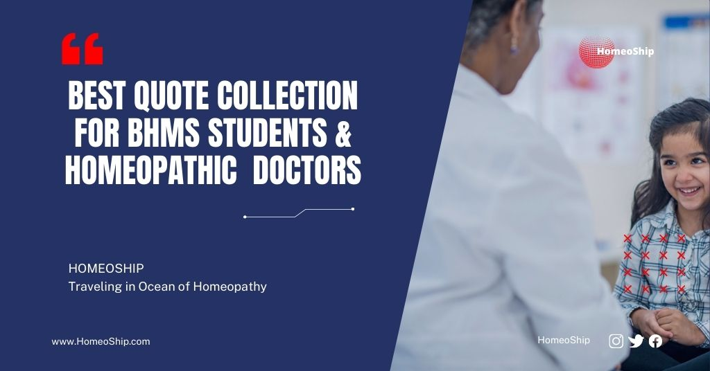 Collection of Best Quotes for Homeopathy
