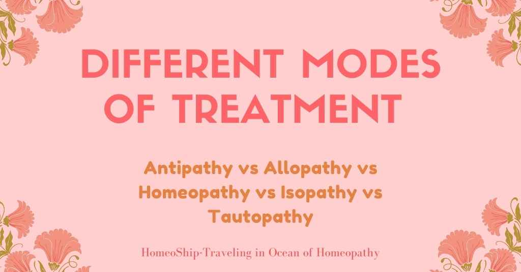 Different modes of treatment