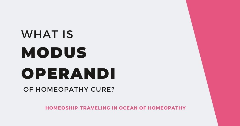 What is Modus Operandi of Homeopathy Cure